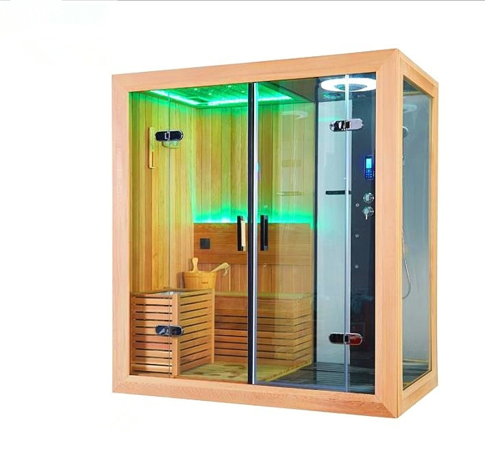 Us 8500 0 Luxury Steam Sauna Room Dry Wet Shower Combination Construction Project M 6035 In Rooms From Home Improvement On
