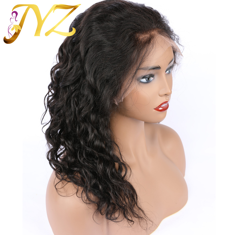 JYZ Curly Wig Brazilian Lace Front Human Hair Wigs With Baby Hair Lace Front Wig Remy Hair Pre Plucked Bleached Knots