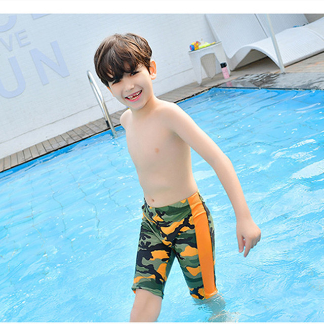10011161e17 Funfeliz Boys Swimming trunk Kids Boy Boardshorts Black Green Kids Swimwear  3-11 Years Children