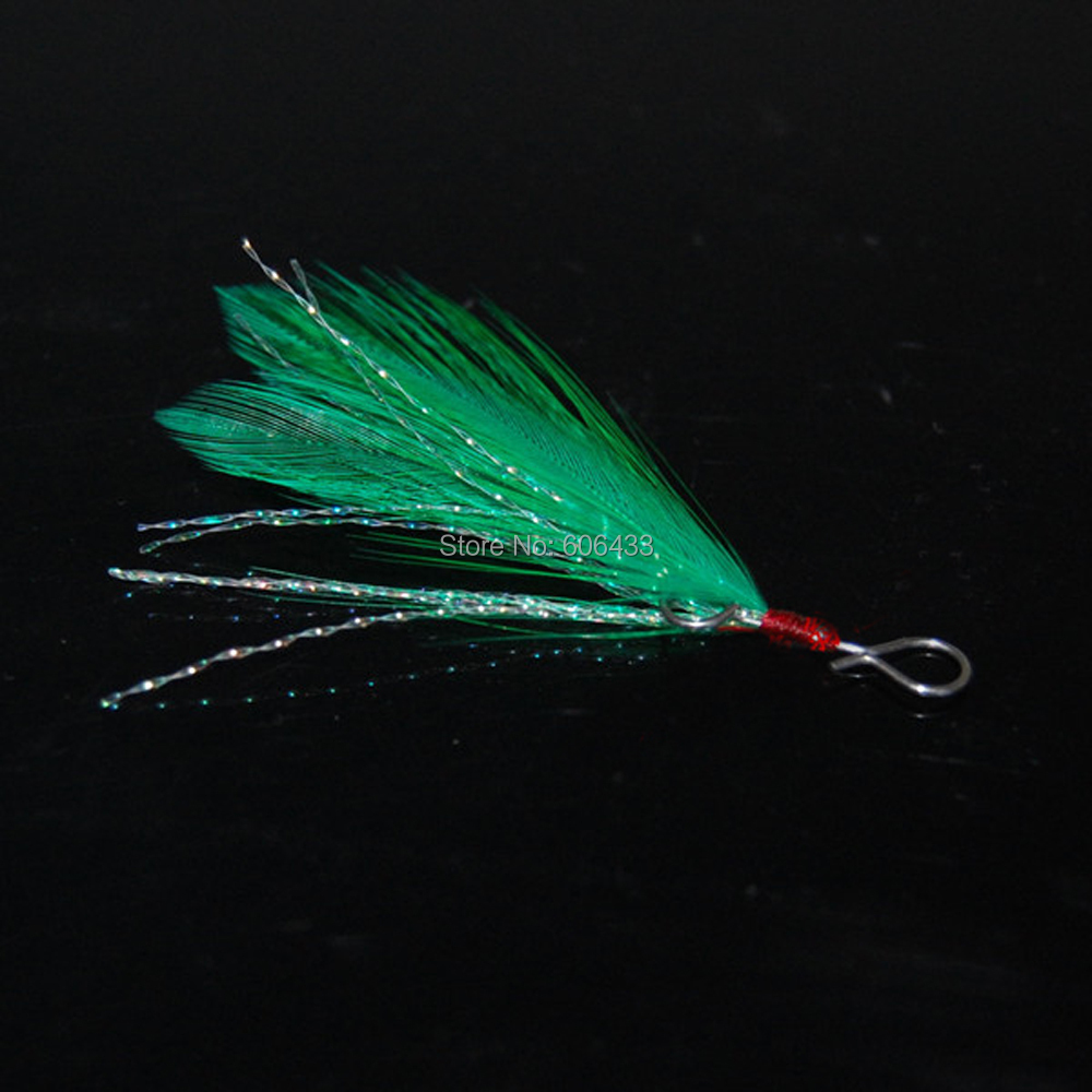 50PCS Fishing accessories Lure Minnow Popper Spoon Hook hang Feather