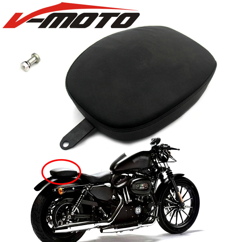 New Motorcycle Rear Passenger Seat For Harley 48 Sportster Forty Eight XL1200X XL1200V 2012-2016