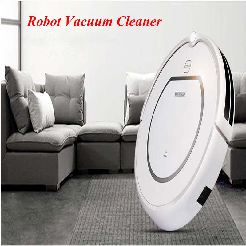 Intelligent Vacuum Cleaner Robot  Wet & Dry Cleaning Machine Floor Vacuum Cleaning Robot Remote Control + HEPA Filter