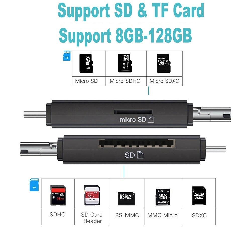 Image 3 - Ingelon Универсальный кардридер USB C OTG TF SD кард ридер microsd MMC Android Компьютерный удлинитель адаптер для камеры считыватель SD карт-in Считыватели карт памяти from Компьютер и офис