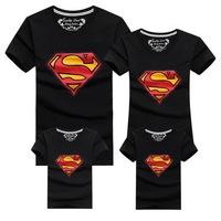 2015 New Family Look Superman T Shirts 9 Colors Summer Family Matching Clothes Father Mother Kids