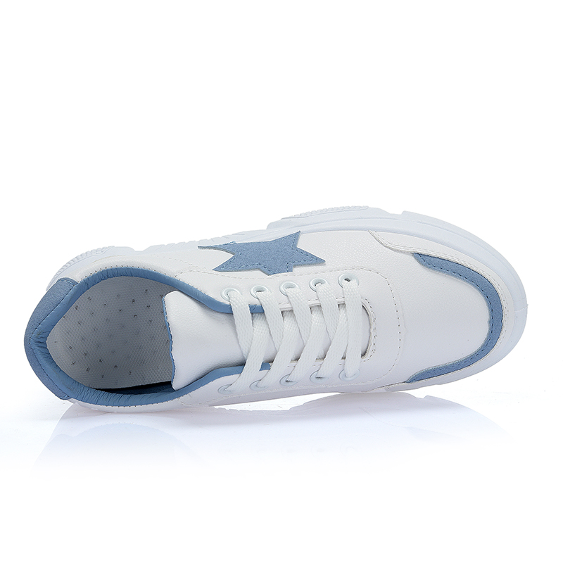 2019 Blancas Azul Planos Otoño Casuales Zapatillas Jbllyy Mujer Mujeres La Las Primavera rosado Zapatos De Transpirables Moda Chaussure blanco g6dndRwxqa