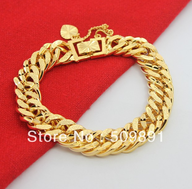 mens hiphop bracelets byzantine store steel bracelet two gold big chain product men jewelry plated stainless tone keychain