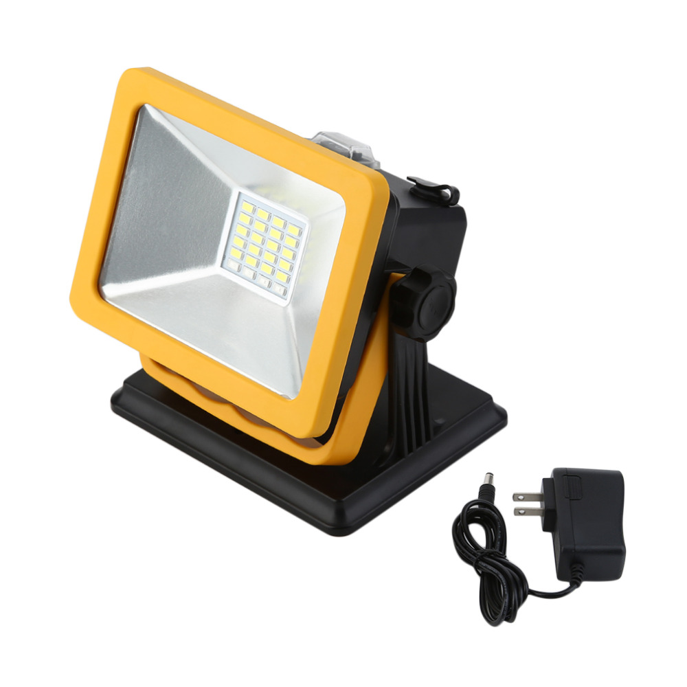 Rechargeable IP65 LED Flood light 15W Waterproof IP65 Portable LED Spotlights Outdoor Work Emergency Camping Work Light FreeShip
