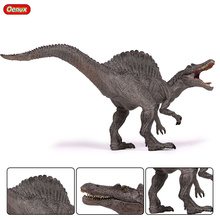 Oenux Prehistoric Jurassic Dinosaurs Classic Spinosaurus Mouth Can Open Action Figures Dinosaur Model Brinquedo Toy For Kids
