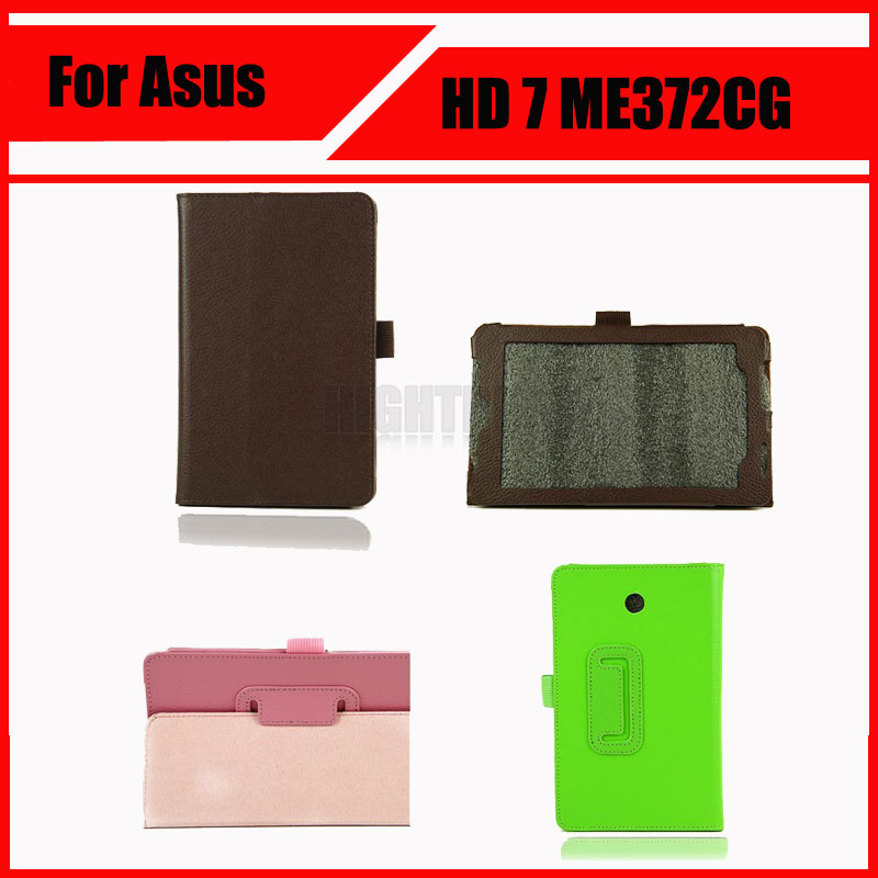 цена на 3 in 1 Wholesale High Quality Pu Leather Stand Case For Asus fonepad HD 7 ME372CG ME372 + Screen Film + Stylus