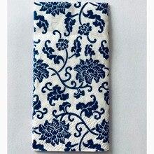 Casamento 10 adet 3 katmanlı klasik mavi çiçek düğün kağıt peçeteler dekupaj için doğum günü partisi dekorasyon Boda malzemeleri