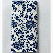 Casamento 10Pcs 3 Layer Classic Blue Flower Wedding Paper Napkins For Decoupage Birthday Party Decoration Boda Supplies