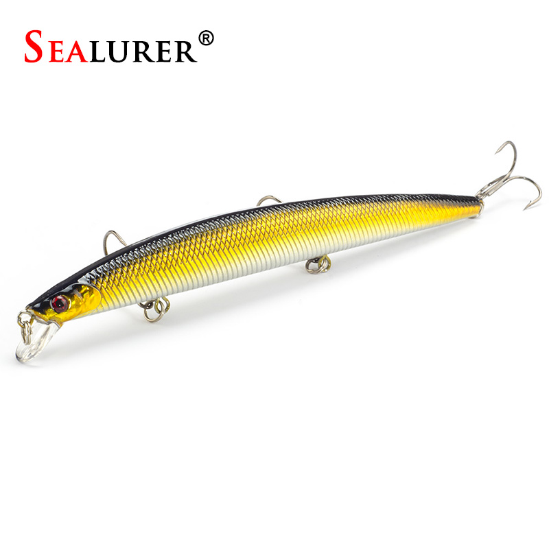 Fish 18CM Long Minnow Lures Artificial Wobbler Plástico Floating Hard Bait Pesca Fish Tackle Isca Crankbait 10 colores 26G / Pcs