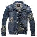 Мужская мода марка популярные логотип мыть джинсовой сумки вышитые скелет MMJ мужская куртка 155