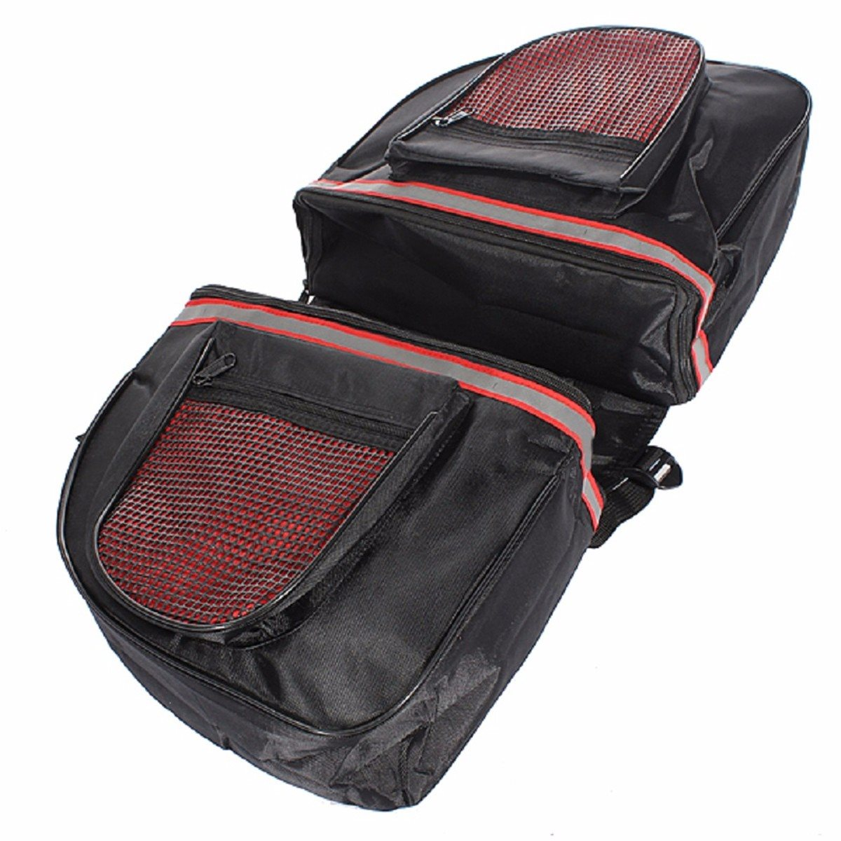 600D Polyster MTB Cycling Bicycle Bag Rear Seat Bag Waterproof Bike Bag Backseat Pannier Double Zipper Side Bag Each outdoor bicycle bag bike double side rear bag