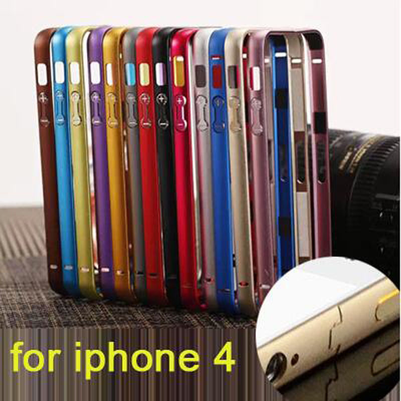 For iPhone4S bumper on a thin aluminum bumper frame case seismic protection frame ultra-thin protective shell for iPhone 4