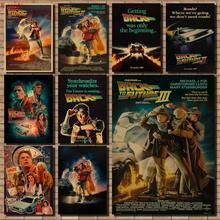 Cartel de vuelta al futuro cartel de película retro póster de coche cartel de película cartel clásico vintage