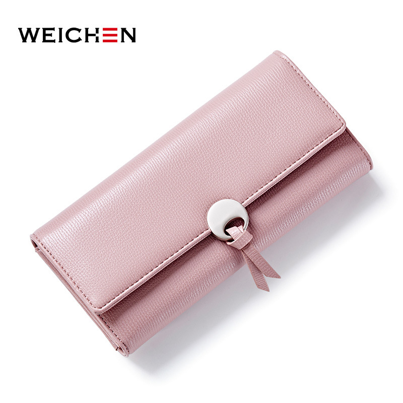 где купить WEICHEN Geometric Wristband Women Clutch Wallets, Long Hasp Large Capacity Coin Card Phone Pocket Bags Wallet Purse Lady Fashion по лучшей цене
