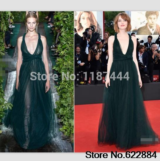 Emma Stone frothy green tulle gown 2014 Venice Film Festival ...