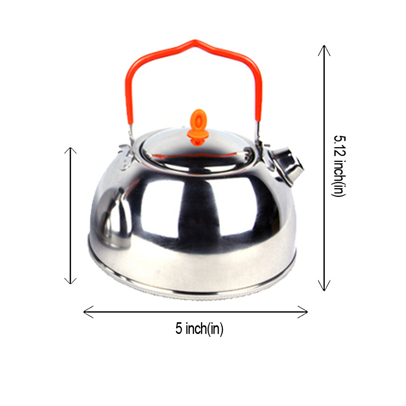 Camping cuisine ensemble vaisselle extérieur ustensiles de cuisine Pot pique-nique théière survie poêles pliant fourchette couteau cuillère en acier inoxydable tasse - 3