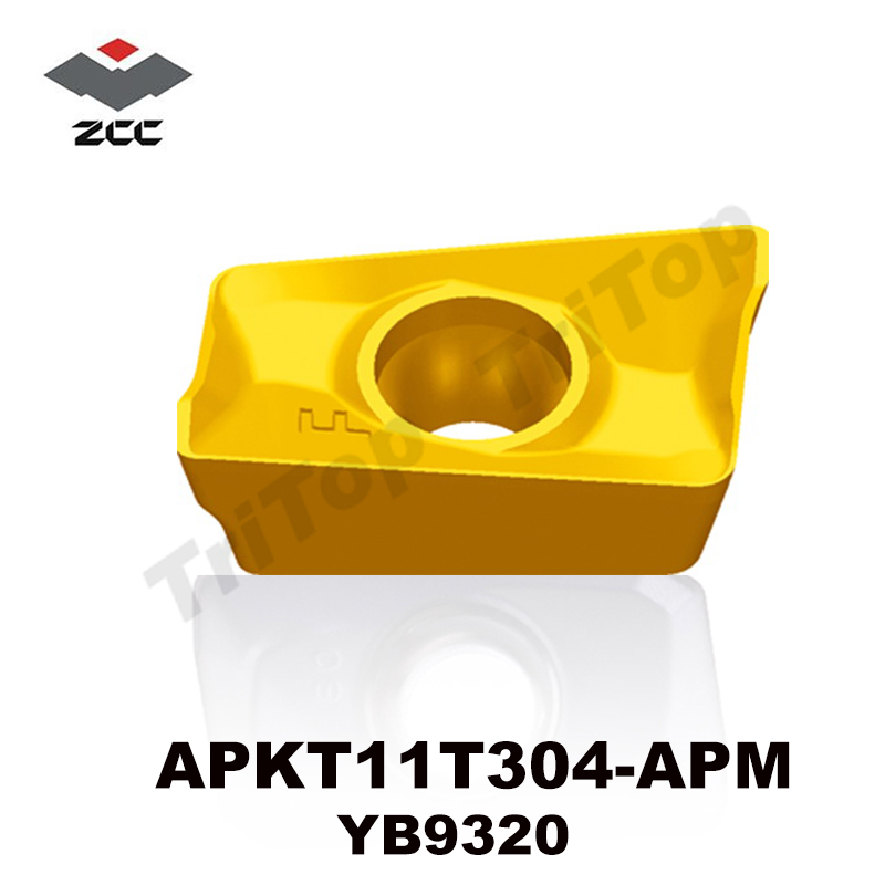 Discount  APKT11T304-APM YB9320 10pcs/lot ZCC.CT  Cemented Carbide Cutting cnc tools Milling insert cutter apkt11t304 apkt rdkw 10t3mo ybg202 10pcs lot zcc ct diamond brand cemented carbide cnc cutting tools inserts