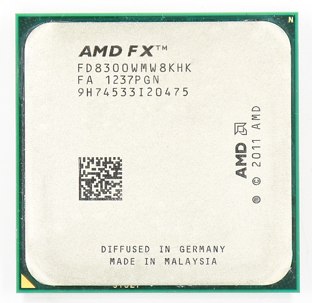 AMD FX 8300 AM3 + 3.3 GHz/8 MB/95 W Huit Core CPU processeur