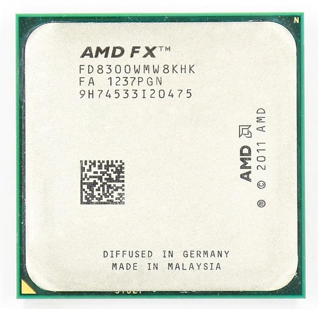 AMD FX 8300 AM3 + 3.3 GHz/8 MB/95 واط ثمانية معالج وحدة المعالجة المركزية الأساسية