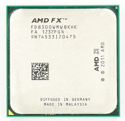 Amd Fx 8300 AM3 + 3.3 Ghz/8 Mb/95 W Otto Core Cpu Processore