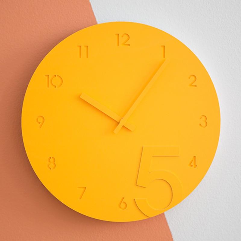 Digital Wall Clock Simple Modern Design Wood Clocks Acrylic Quartz ...