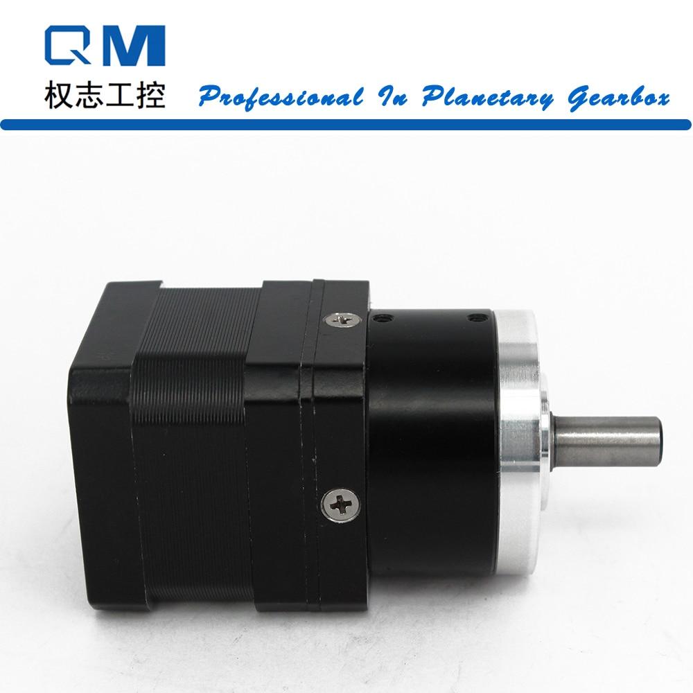 цена на Nema 17 geared stepper motor L=34mm planetary gearbox ratio 5:1 cnc robot pump