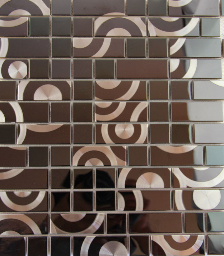 aliexpresscom buy hot metal mosaic wall tile stainless steel - Decorative Wall Tiles
