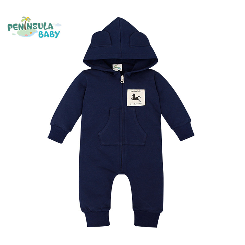 Baby Funny Romper Spring Autumn Long Sleeve Baby Hooded Rompers Newborn Infant Sleepers Toddler Coveralls Cute Costume warm thicken baby rompers long sleeve organic cotton autumn
