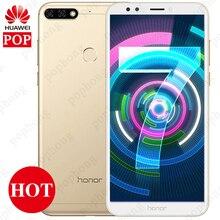 Huawei Onur 7C Küresel Firmware Tam Ekran 5.99 Yüz KIMLIĞI Smartphone Android 8.0 Qualcomm 450 1.8 GHz * 8 13MP 2 arka Cams