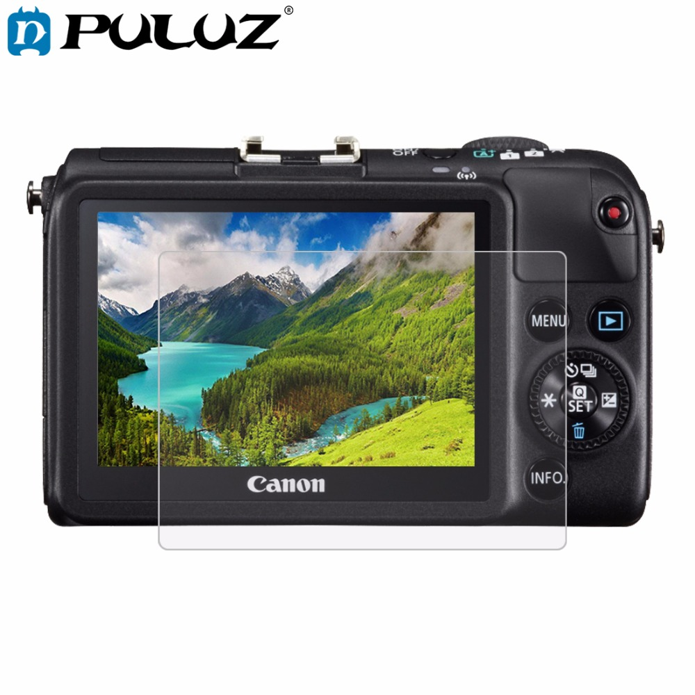 PULUZ Camera 2 5D Curved Edge 9H Surface Hardness Tempered Glass Screen Protector for Canon M2 SX700 HS Cameras Accessories in Camera LCD Screen from Consumer Electronics