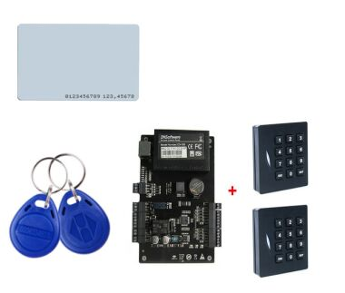 TCP/IP Linux System One Door Access Controller With 2pcs RFID Smart Card Reader ZK C3-100 Access Control Panel zk f19 fingerprint recognition door access control system tcp ip linux system biometric fingerprint access controller reader kit