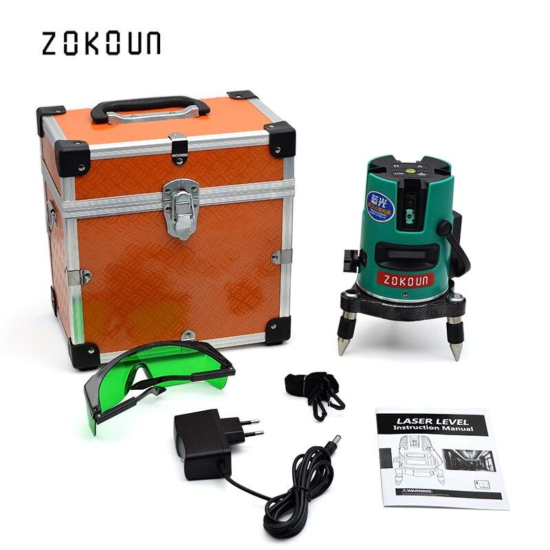 EU PLUG ZOKOUn Self-leveling laser receiver OK laser level 360 tool could work at -20 degrees celsius to 50 degrees celsius sensor at v500 at 005vh tested ok