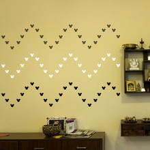 105pc/Set Wall Sticker For Kids Room Cartoon Animal Cute Mickey Mouse Home Decor Girl Decorative Stickers