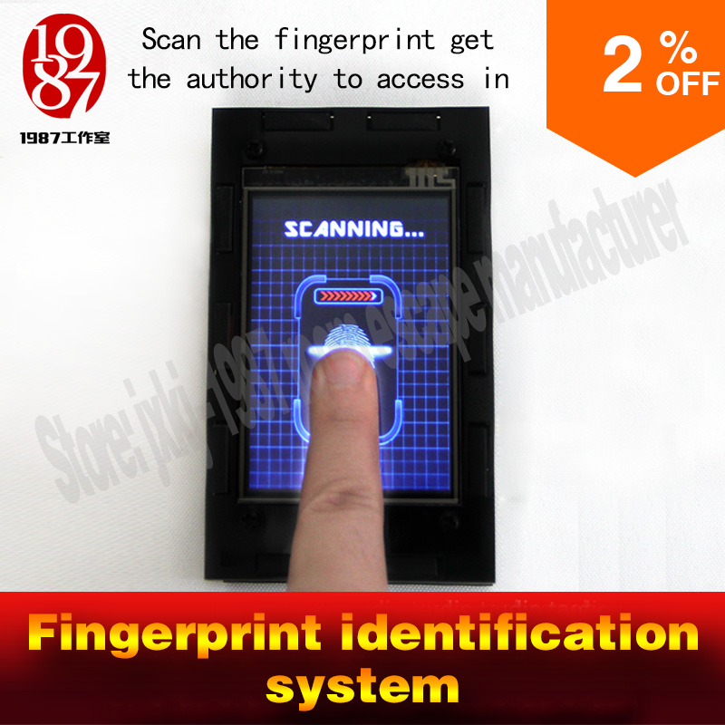 bilder für Fingerabdruck-scanner prop Escape zimmer spiel Fingerprint identification puzzle identifizieren die fingerabdruck verschluss JXKJ1987