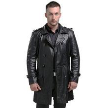 Aibianocel Весна Для Мужчин's Настоящая кожа куртка для Для мужчин jaqueta de couro masculina Мода черный мужской дубленка плюс Размеры 94