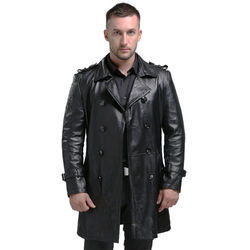 AIBIANOCEL Spring Men's Genuine Leather Jacket For Men Jaqueta De Couro Masculina Fashion Black Male Sheepskin Coat Plus Size 94