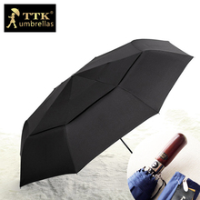 ビッグ傘男性株式会社防風二重層フォールディング TTK 男の大釣り雨太陽パラソル自動傘
