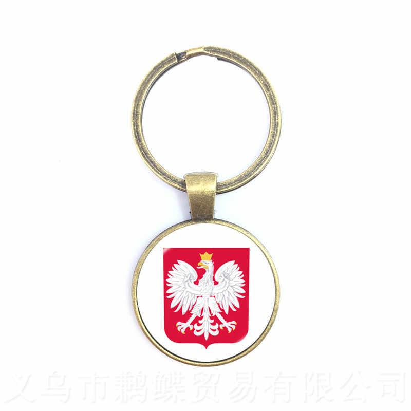 Llavero con colgante de cristal de fútbol 2018, Bélgica, Alemania, Dinamarca, Polonia, islén, insignia de fútbol nacional, llavero, regalo para los Fans