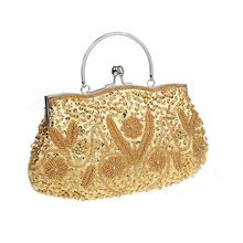 Noble Elegant Women Hot Sale Cosmetic Bag Exquisite Beads Sequins Wedding  Party Bag High Quality Lady 0bea20674de7