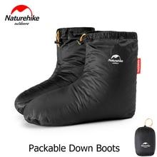 Naturehike Botas de plumas de ganso para hombre y mujer, calcetines térmicos de invierno, calzado para senderismo al aire libre, saco de dormir para acampar, accesorios