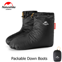 Naturehike Packable Goose Down Boots Winter Thermal Socks Footwear For Men Women Outdoor Hiking Camping Sleeping Bag Accessories