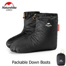 Naturerandonnée emballable en duvet doie bottes hiver chaussettes thermiques chaussures pour hommes femmes en plein air randonnée Camping sac de couchage accessoires