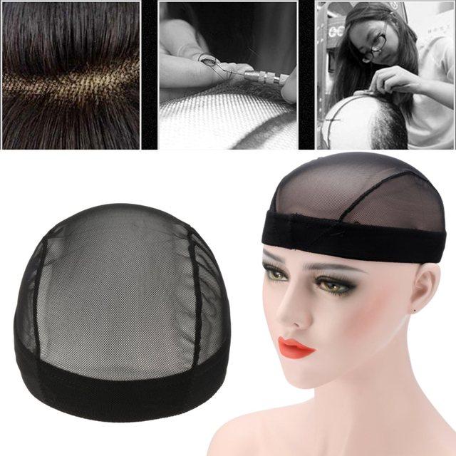 1pcs Dome Style Mesh Wig Cap Black Stretchable Weaving Caps Elastic Nylon Net For Making