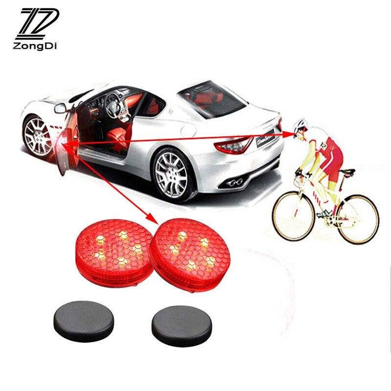 ZD Car Door Warning Signal Crash Strobe Light 5 LED Stickers For Alfa Romeo 159 BMW E46 E39 E36 E90 Audi A3 A6 C5 A4 B6 B8 A6 A8
