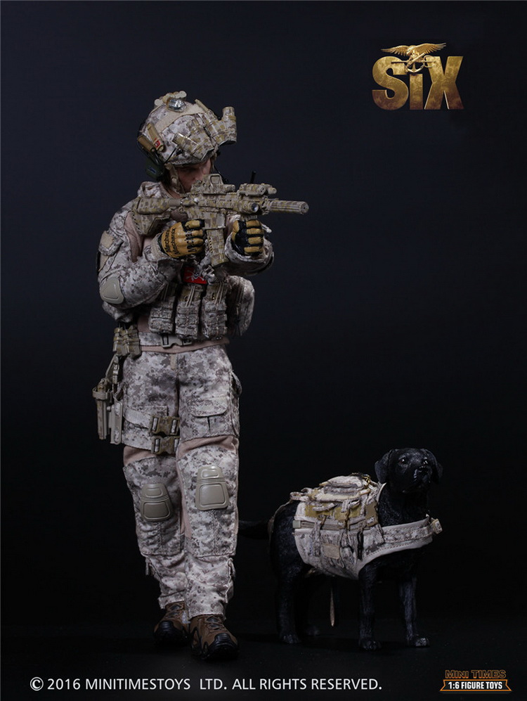 1/6 scale male figure doll Collectible model plastic toy US soldier NSWDG The seal team six HALO with dog 12 Action figure doll 1 6 scale model metal gear solid v the phantom d dog diamond dog about 23cm collectible figure model toy gift