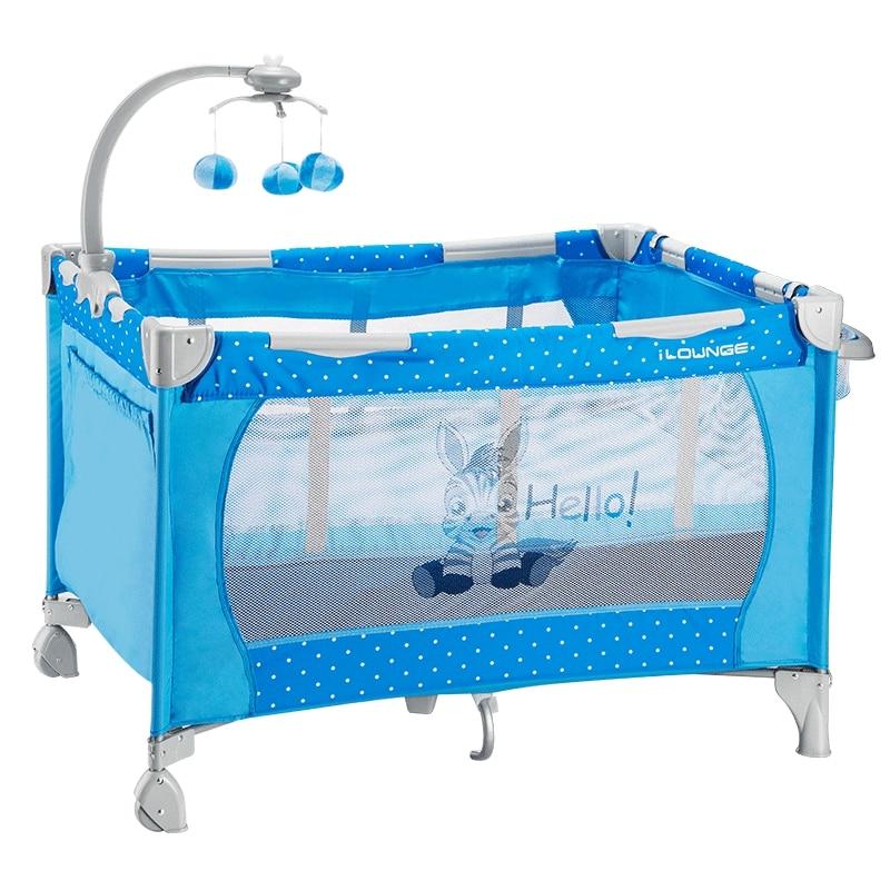 все цены на God Horse Multifunctional Folding Baby Bed, European Style Portable Game Children Cradle Bed