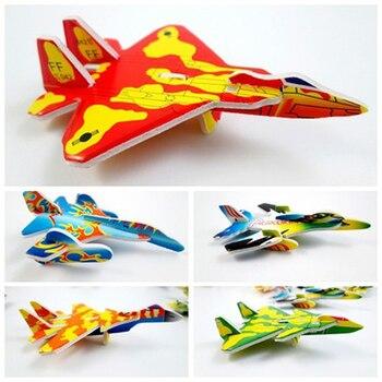 10Pcs Educational Outdoor Toys 3D aircraft Fighter Blocks DIY Building Single Bricks Parts Accessory Construct Magnet Model